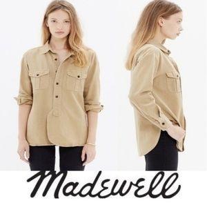 Madewell | Khaki Cargo Utility Workshirt | S